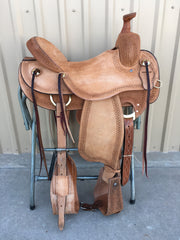 Corriente Ranch Will James Association Saddle SB365 - The Sale Barn - 1