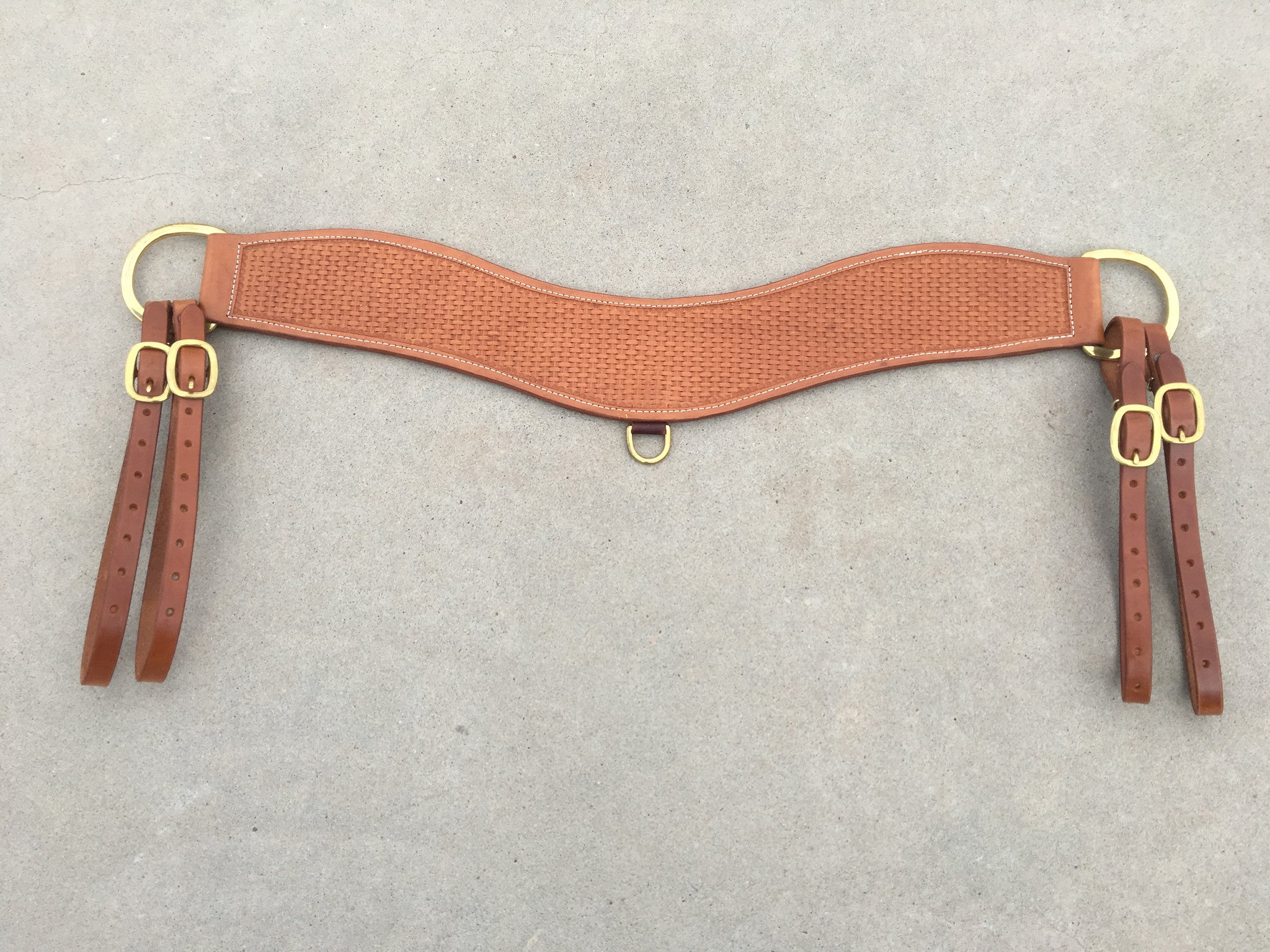 Tripper Roping Breast Collar Basket Brass - The Sale Barn
