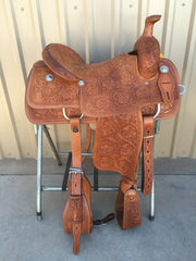 Corriente Team Roping Saddle SB107 - The Sale Barn - 1