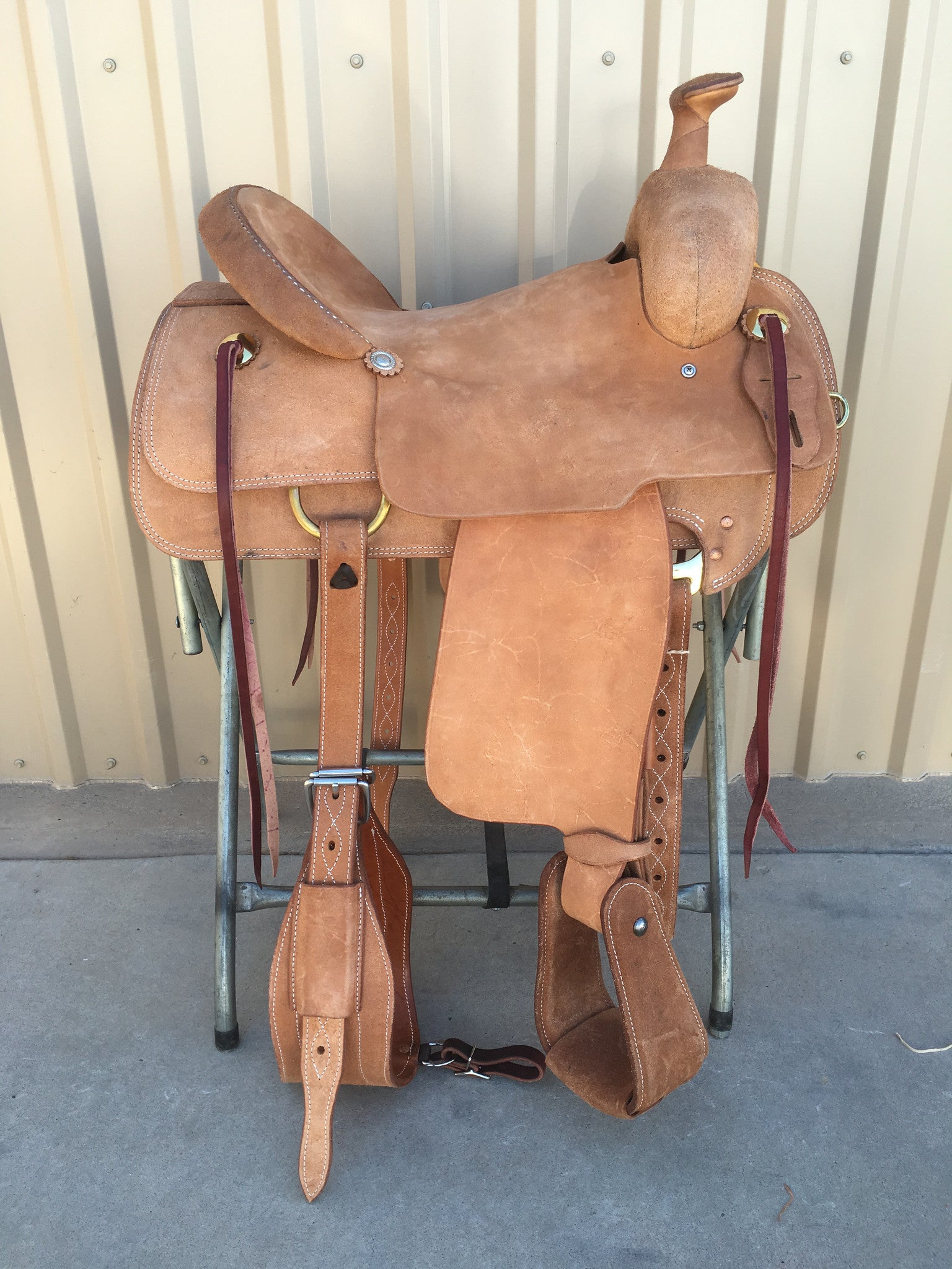 Corriente Ranch Will James Association Saddle SB374 - The Sale Barn - 1