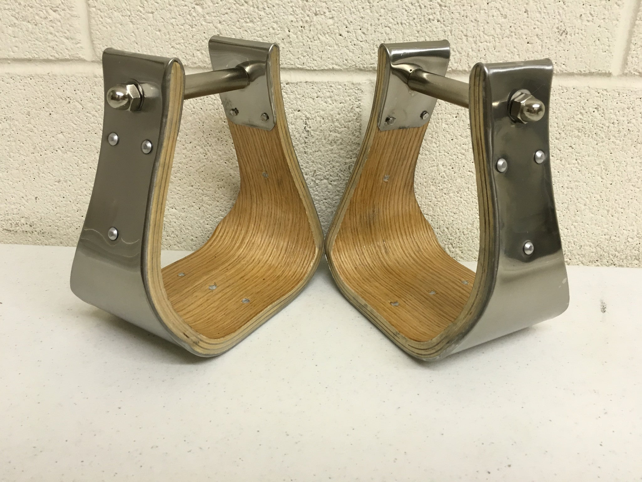 Silver Wide Platform Stirrups - The Sale Barn - 1