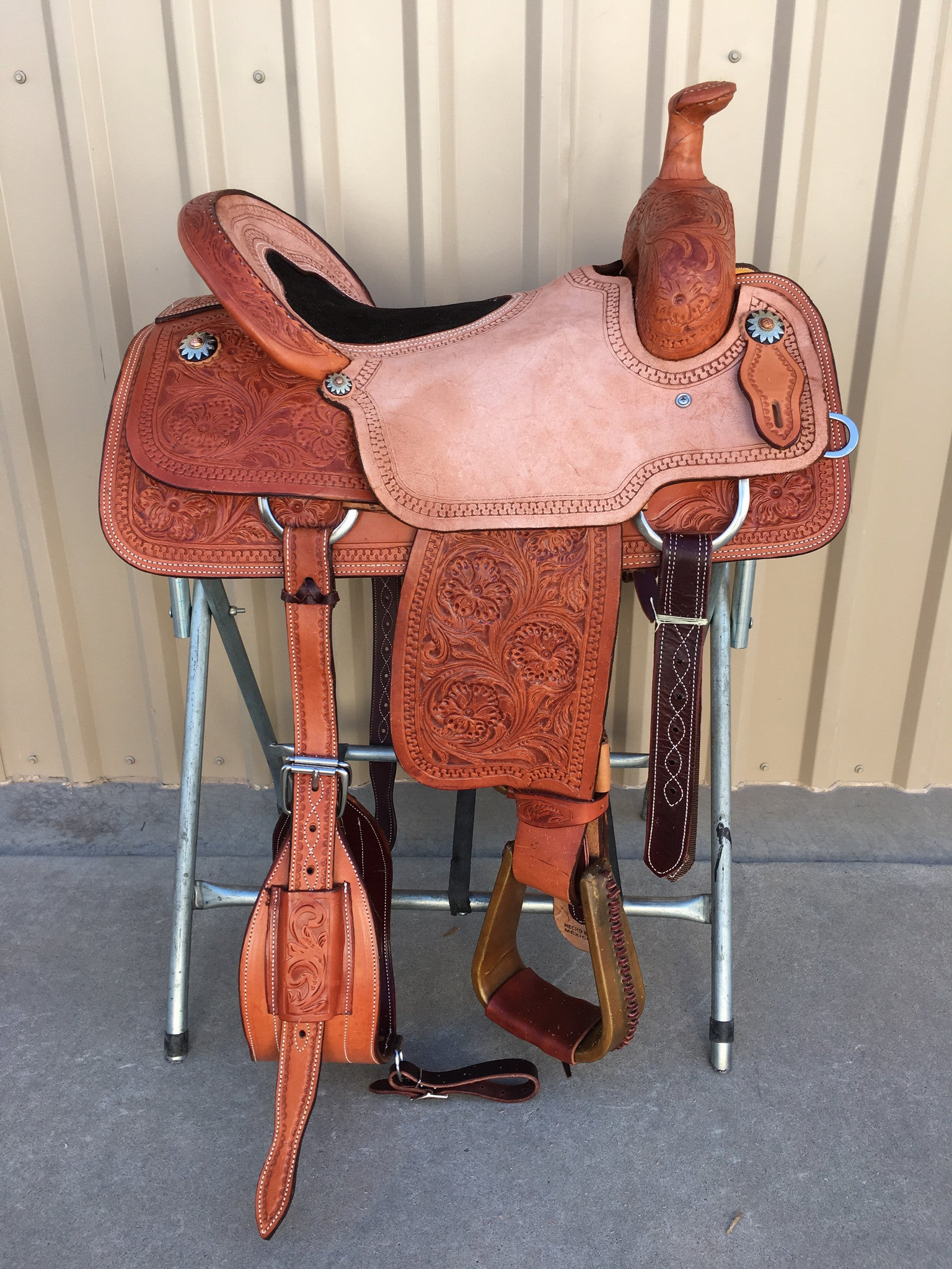 Corriente Team Roping Saddle SB138 - The Sale Barn - 1