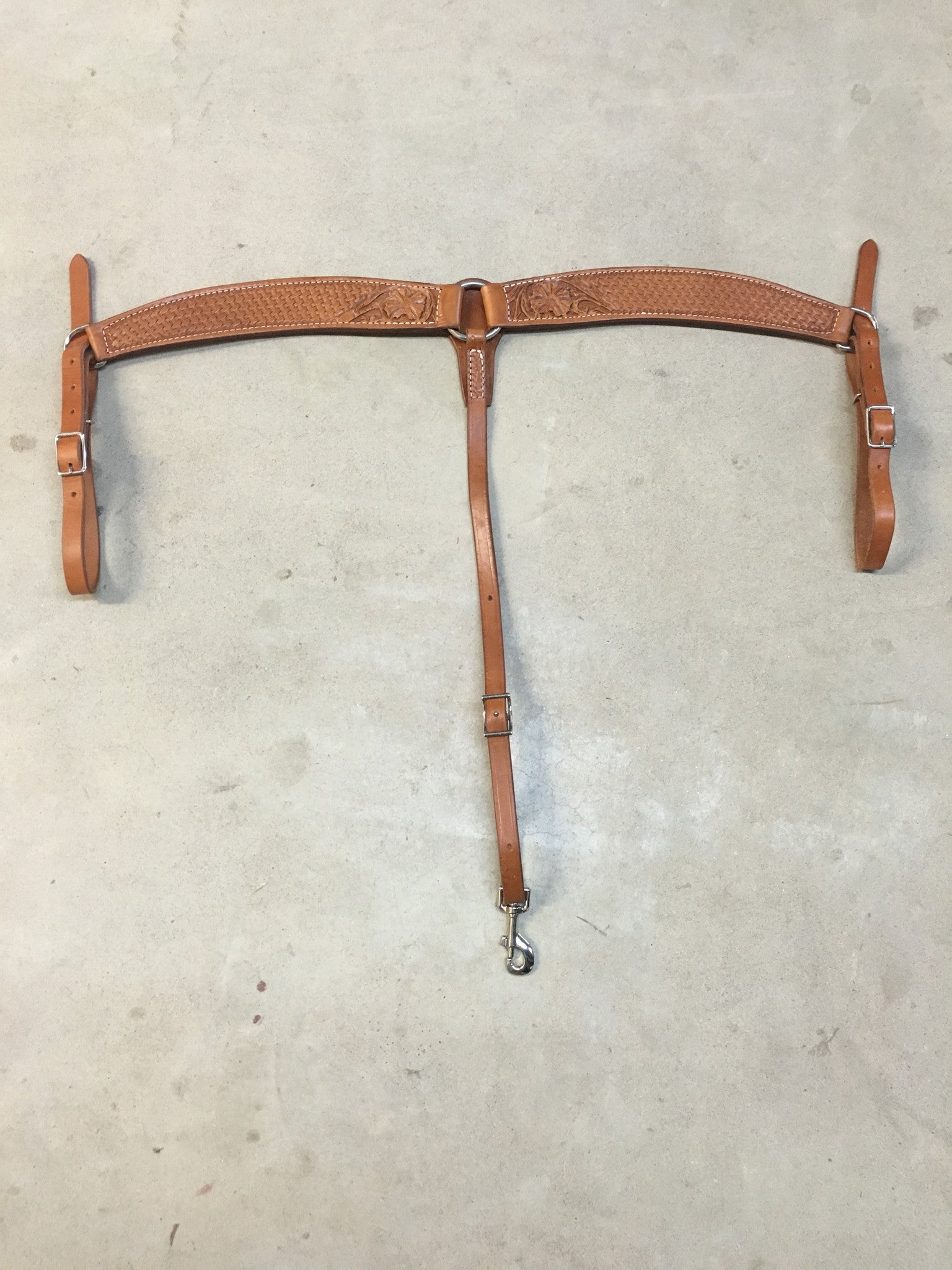 3-Piece Barrel Breast Collar Flower and Basket Tooling - The Sale Barn - 1