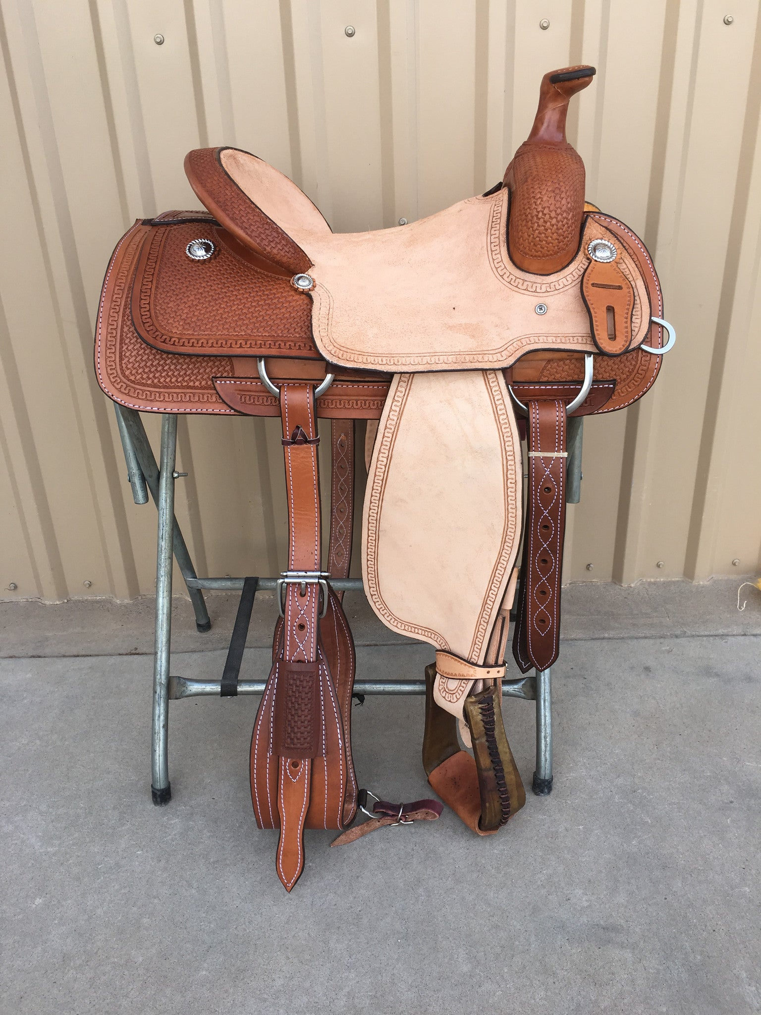 Corriente Team Roping Saddle SB128-A - The Sale Barn - 1