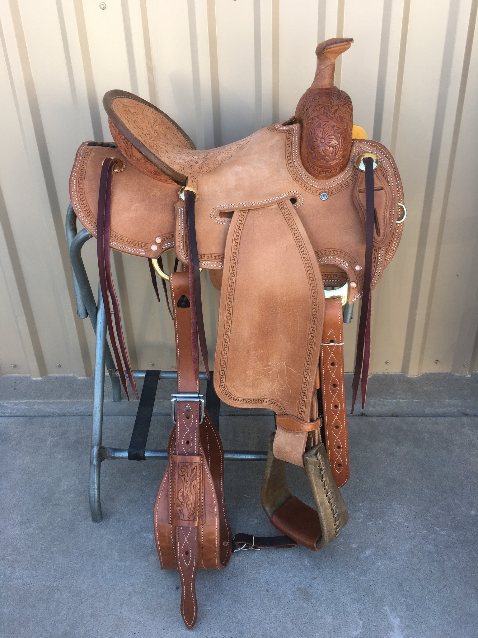 Corriente Strip Down Team Roping Saddle SB119B - The Sale Barn - 1