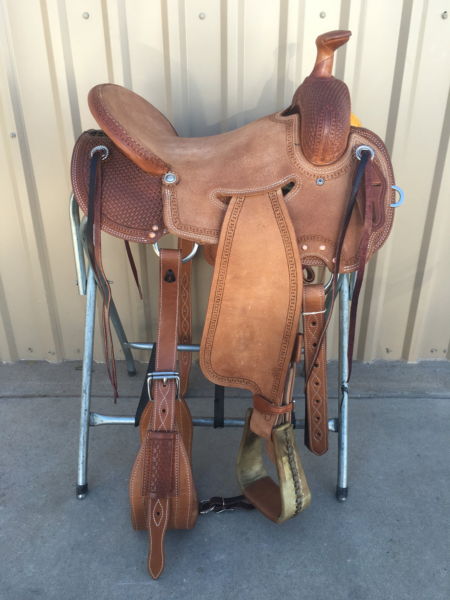 Corriente Strip Down Team Roping Saddle SB119C - The Sale Barn - 1