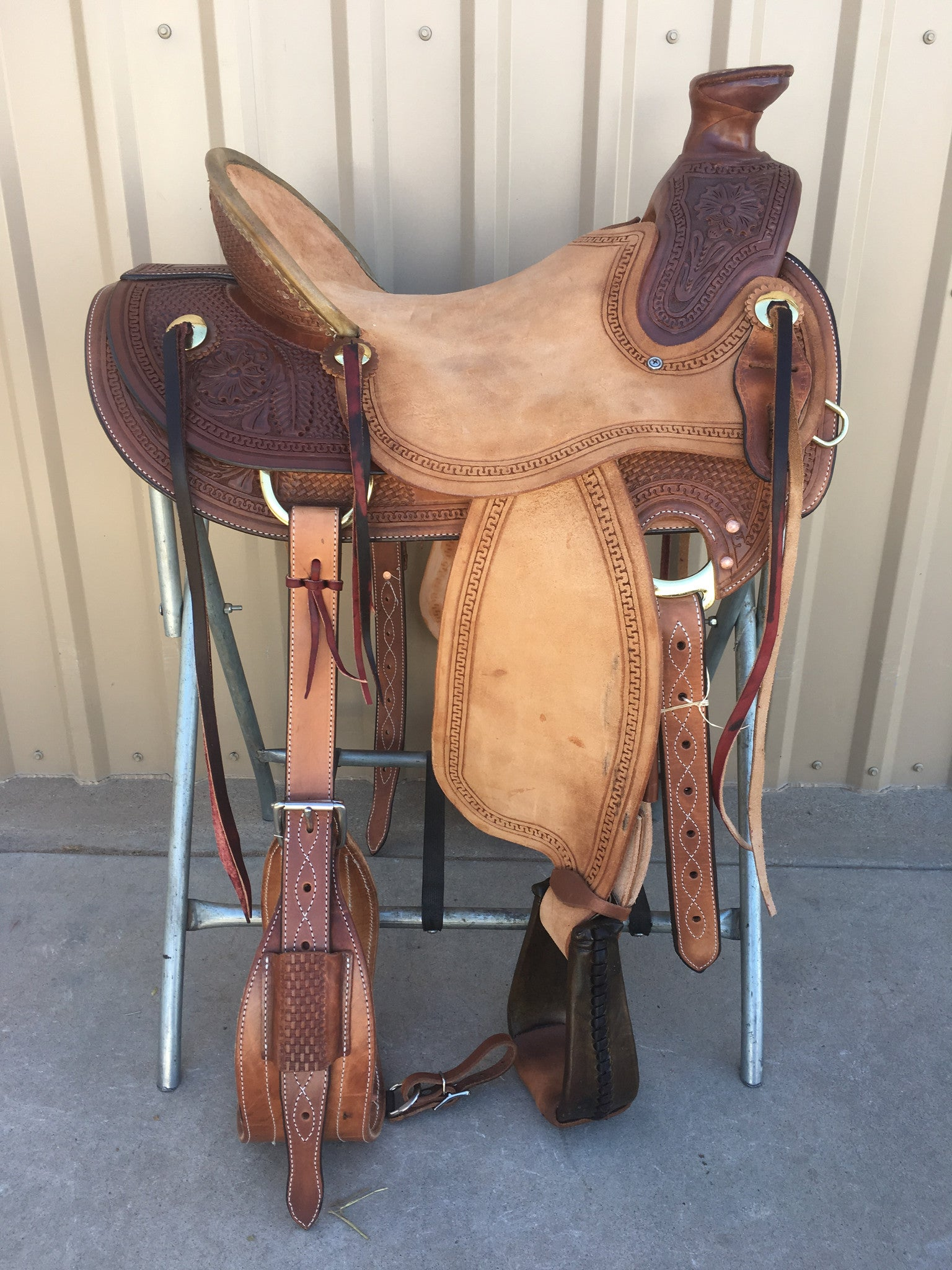 Corriente Ranch Wade A-Fork Saddle SB408A - The Sale Barn - 1