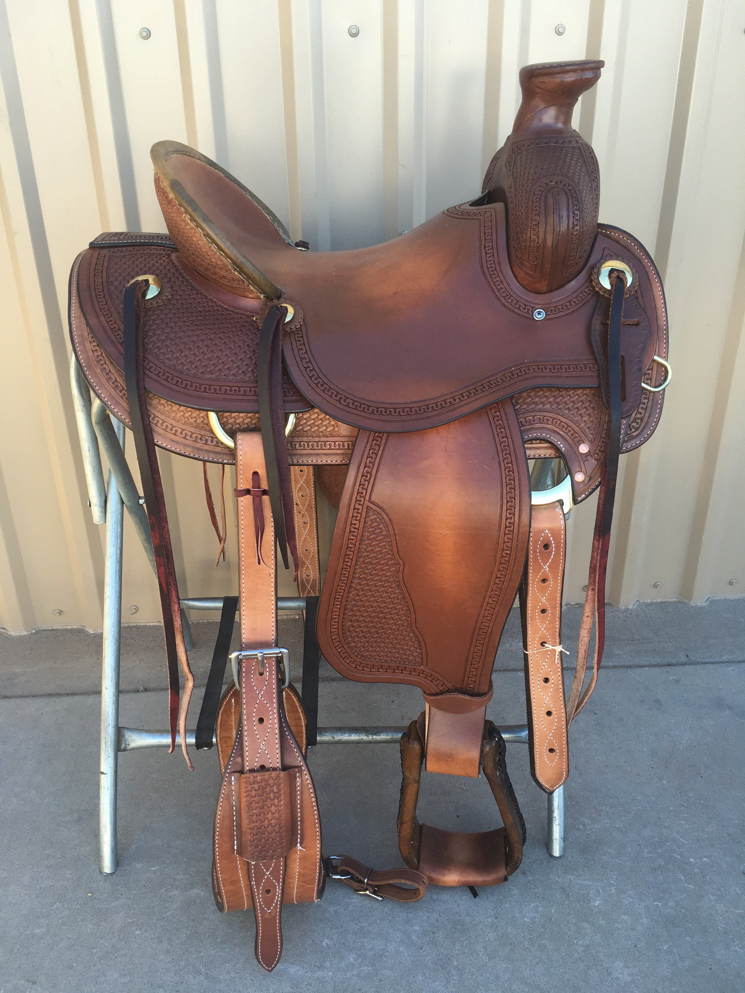 Corriente Ranch Association Saddle SB335A - The Sale Barn - 1