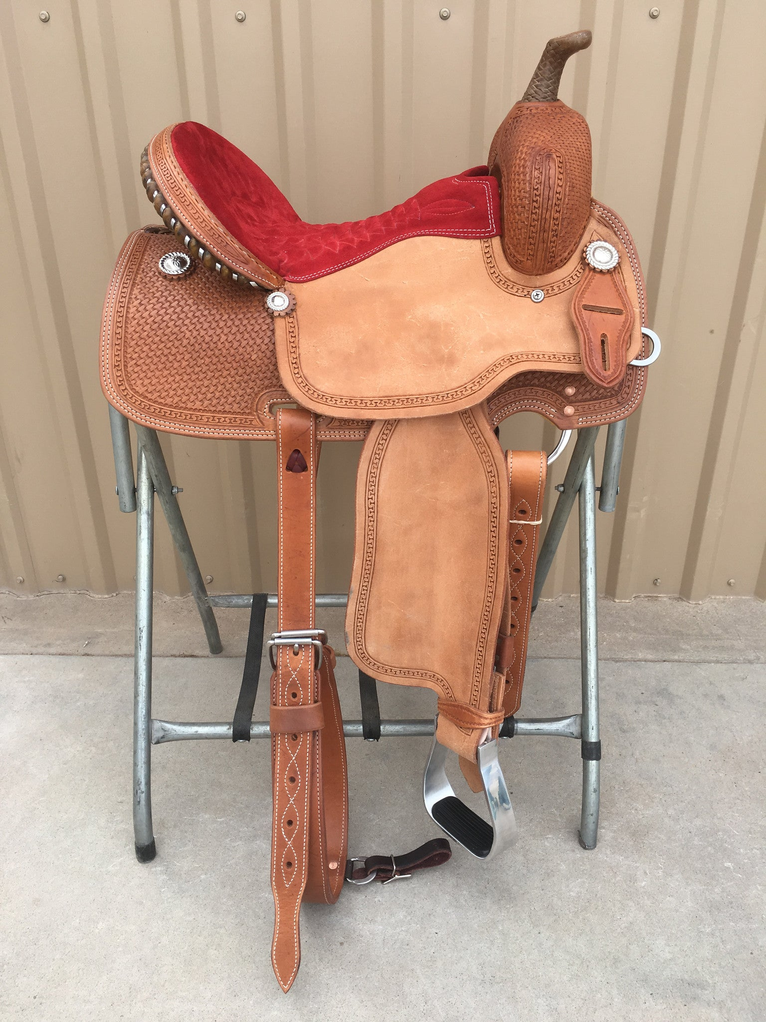 Corriente Barrel Racing Saddle SB558A - The Sale Barn - 1