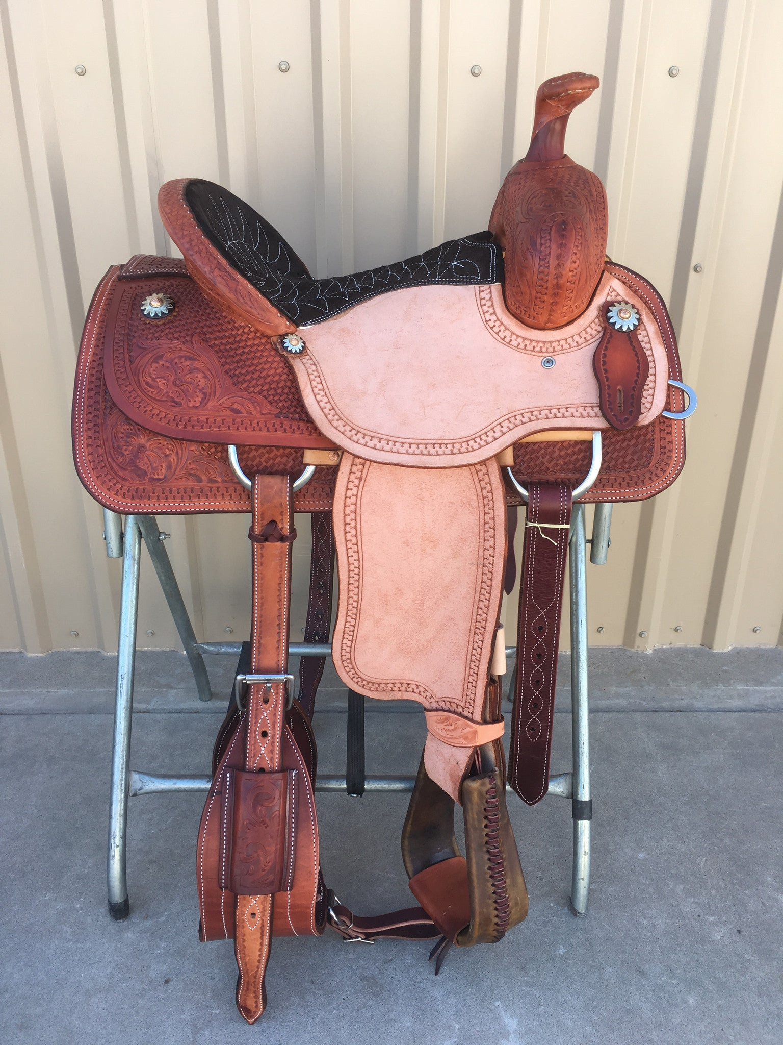 Corriente Ranch Association Saddle SB344 - The Sale Barn - 1