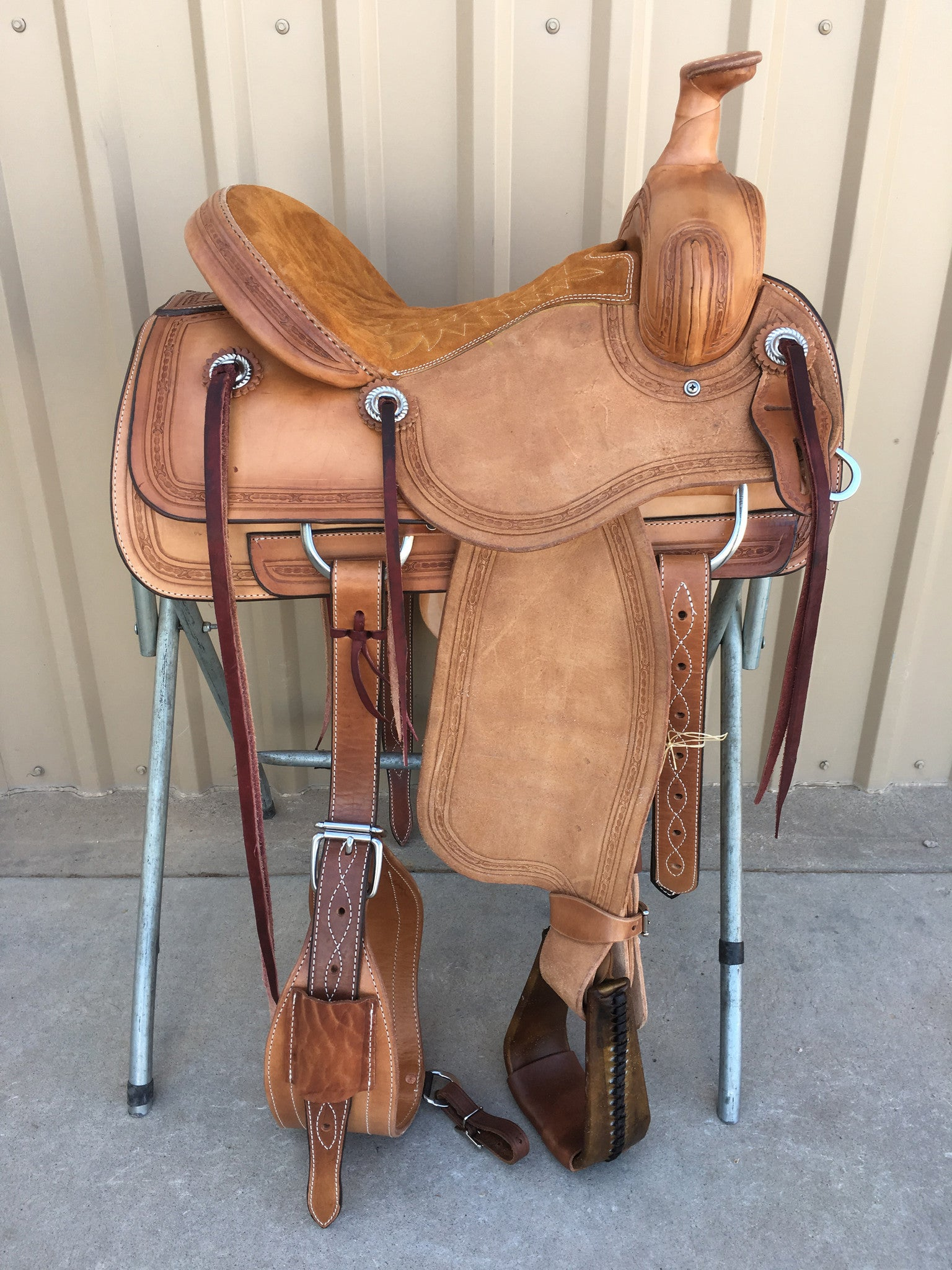 Corriente Ranch Association Saddle SB345 - The Sale Barn - 1