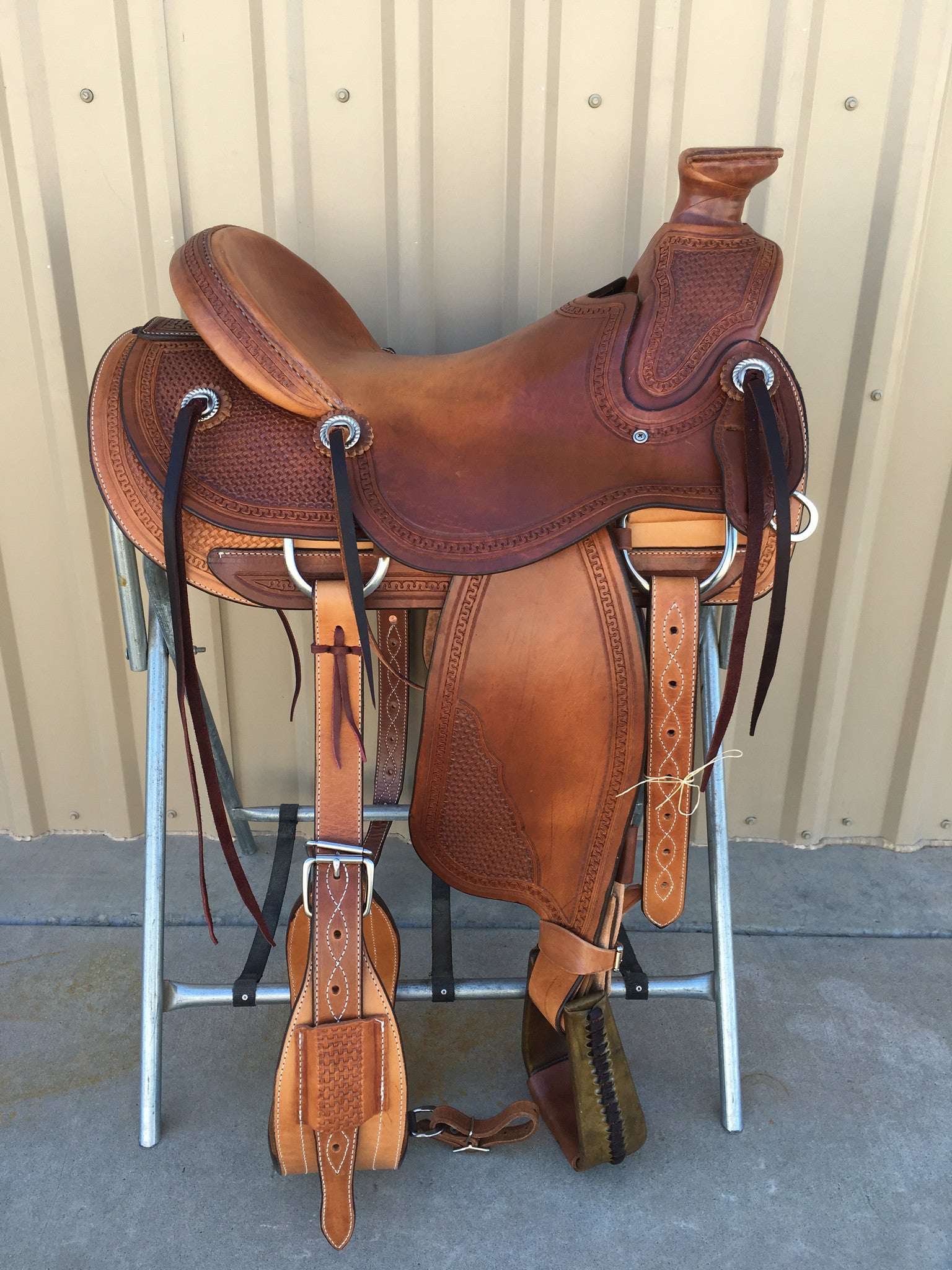 Corriente Ranch Wade Saddle SB433 - The Sale Barn - 1