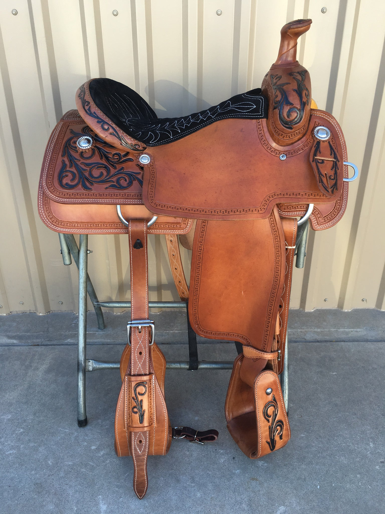 Corriente Team Roping Saddle SB113A - The Sale Barn - 1