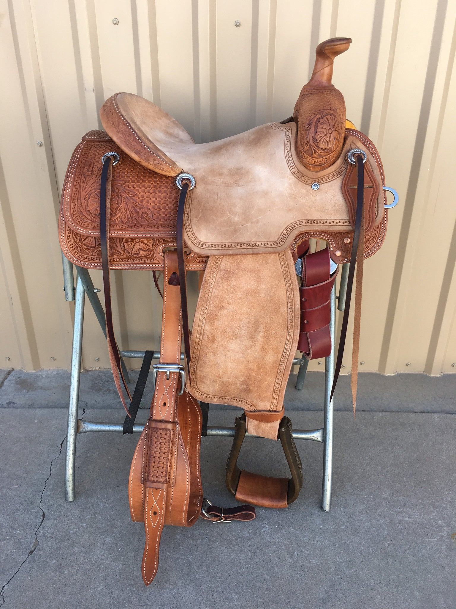 Corriente Team Roping Saddle SB165 - The Sale Barn - 1