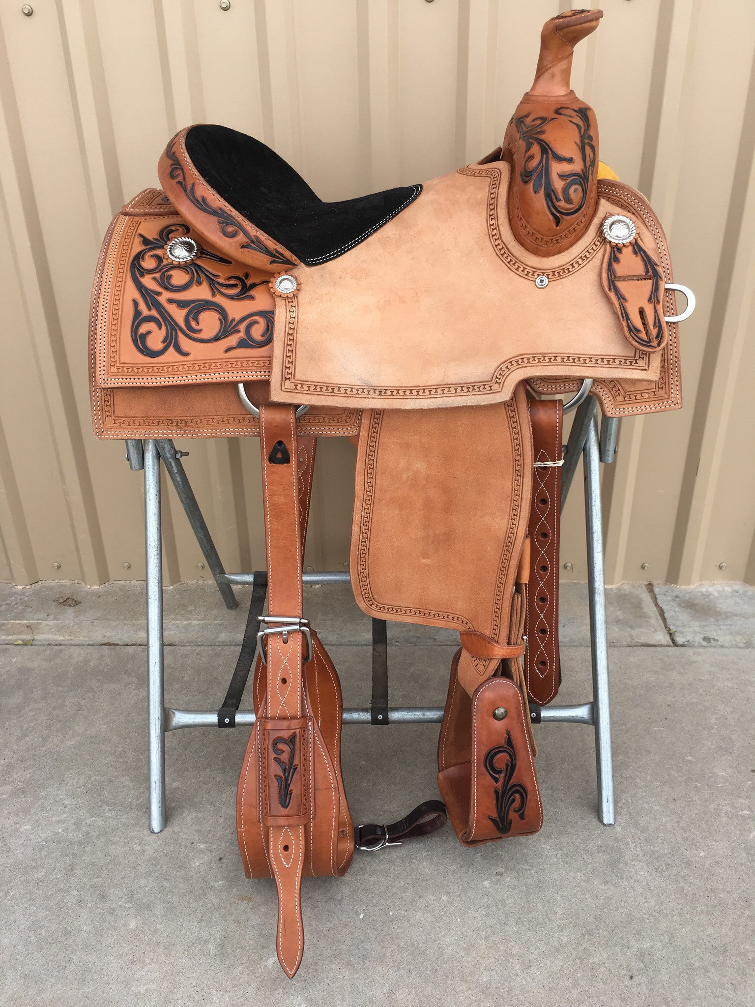 Corriente Team Roping Saddle SB114A - The Sale Barn - 1