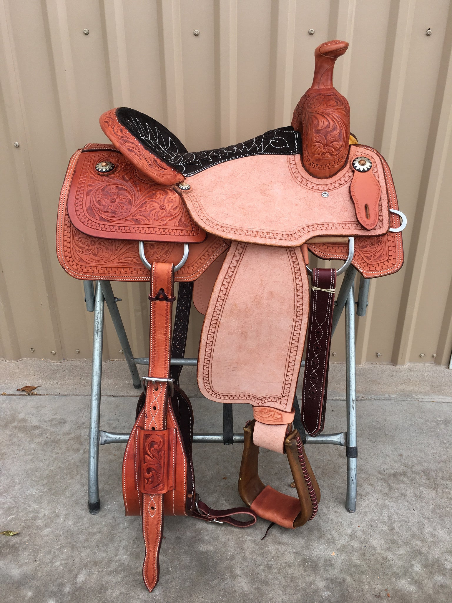 Corriente Team Roping Saddle SB117A - The Sale Barn - 1