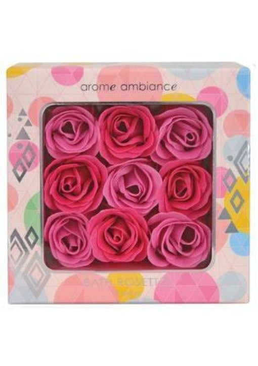 Arome Ambiance Bath Rosettes (9 pieces) - a beautiful set of 9 bath rosettes to add wonderful scent to your bath. Add 2-3 rosettes to your bath and enjoy a candied fruits scented soak! Arome Ambiance Bath Rosettes brought to you by LoveMy Makeup NZ