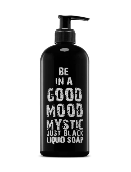 Be In A Good Mood Mystic Just Black Liquid Soap 400ml - This liquid soap create more foam for a more enjoyable lather. With none of bar soaps harsh ingredients, our skin care body wash products won't dry your skin, making it easy for the lotion to do its work. Be In A Good Moodk Liquid Soap at LoveMy Makeup NZ