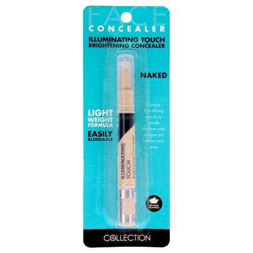 Collection Illuminating Touch Concealer (Naked)- A brightening and hydrating concealer. Light-diffusing particles add radiance for a glowing complexion. Lightweight and illuminating for a fresh finish. Dark circles be-gone. Collection concealer at LoveMy Makeup NZ