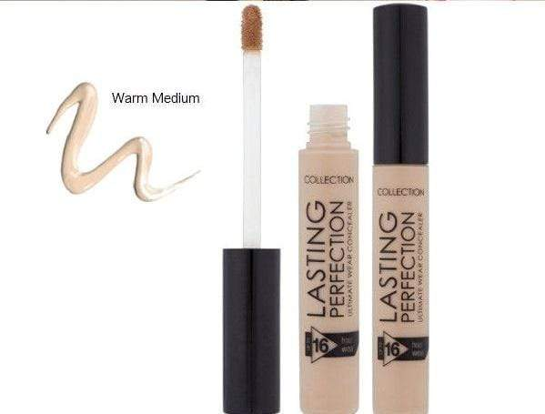 Collection Lasting Perfection Concealer (Warm Medium) - Dot, dab, conceal or contour your way to a flawless finish.. This blogger favourite is smudge-proof, budge-proof and transfer-proof. For coverage that lasts for up to 16-hours. Collection Lasting Perfection Concealer at LoveMy Makeup NZ