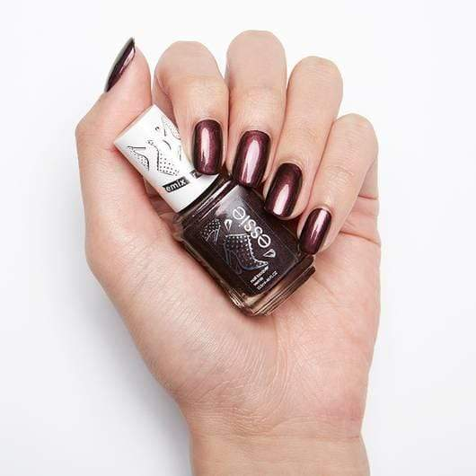 Essie Nail Polish (Wicked Fierce) - a play on our classic shade wicked, this deep dark blackened red nail polish with a mysterious duo chrome finish turns up the attitude and is nothing short of show stopping.(shimmer) . Essie Nail Polish at LoveMy Makeup NZ
