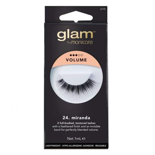 Glam False Lashes (Miranda) - Create an instant wow effect on your eye looks with our range of false lashes. Glam provides the ultimate range of fashion forward lashes & Clearance; accessories to complete any beauty regime, from a natural look to a glamorous night out. Glam False Lashes (Miranda) at LoveMy Makeup NZ
