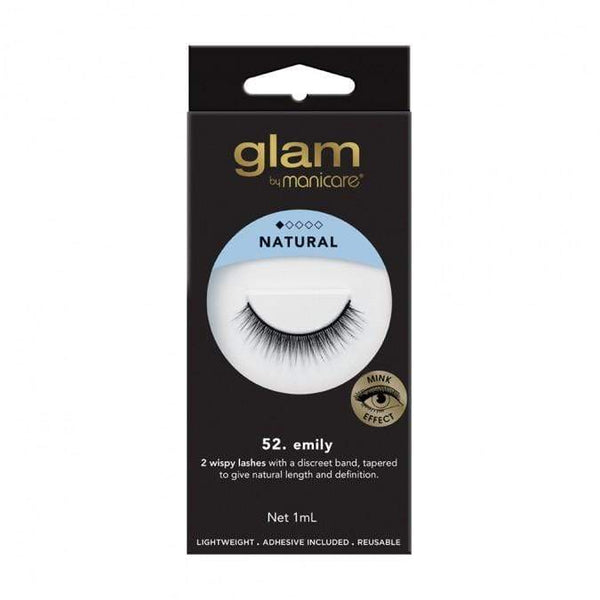 Glam Mink Effect False Lashes (Emily) - Mink effect is the latest trend in false lashes due to the demand for a natural look that is traditionally achieved only through lash extensions. Glam Mink Effect lashes at LoveMy Makeup NZ feature premium light-weight fibres for additional comfort.