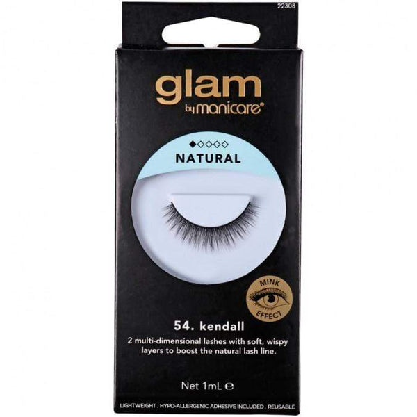 Glam Mink Effect False Lashes (Kendall) - Mink effect is the latest trend in false lashes due to the demand for a natural look that is traditionally achieved only through lash extensions.  Glam Mink Effect lashes at LoveMy Makeup NZ feature premium light-weight fibres for additional comfort.