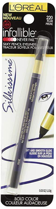 L'Oreal Infallible  Pencil Eyeliner - 220 Plum Prune - cheap makeup, cosmetic & clearance sales at the LoveMy Makeup online store NZ