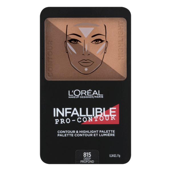 L'Oreal Infallible Pro Contour  Palette - 815 Deep - cheap makeup, cosmetic & clearance sales at the LoveMy Makeup online store NZ