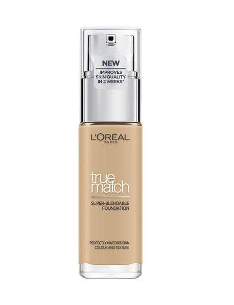 L'Oreal True Match  Foundation ( Beige) - L'Oreal Paris True Match Foundation is a super-blendable liquid foundation that perfectly matches the colour of your skin. Now infused with hyaluronic acid for improved skin quality.  Oil-free and non-comedogenic. It automatically adjusts to the texture of the skin to create a flawless finish. L'Oreal True Match  Foundation at LoveMy MakeupNZ
