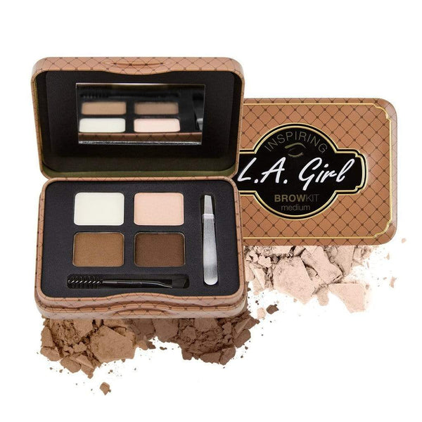 LA Girl Inspiring Brow Kit - Medium & Marvelous - cheap makeup, cosmetic & clearance sales at the LoveMy Makeup online store NZ