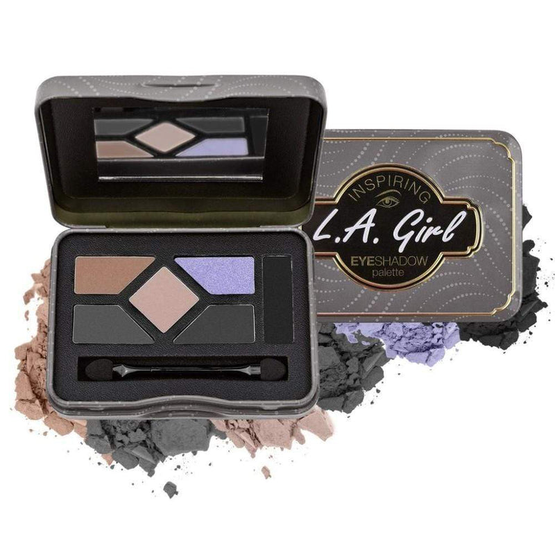 LA Girl Inspiring Eye Palette (You're Smokin' Hot) - These glamorous eyeshadow tins are sure to inspire a diverse range of looks from natural, soft looks to dramatic, smoky to bright and colorful. Packed with five intensely pigmented shadows plus a complementary shadow liner. Beautifully showcased in jewel toned tins waiting for inspiration to strike! LA Girl Inspiring Eye Palette at LoveMy Makeup NZ