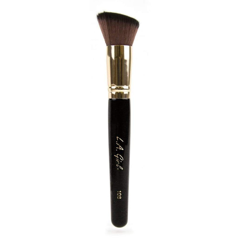 LA Girl Pro Makeup Brush - 108 Angled Buffer Brush - cheap makeup, cosmetic & clearance sales at the LoveMy Makeup online store NZ