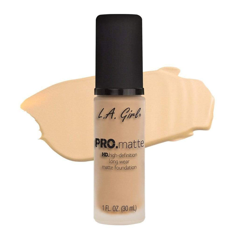 LA Girl Pro Matte Foundation - 671 Ivory - Now available in an expanded shade range, our best-selling foundation comes in 10 new colors with more options to love across light, medium and deep tones. Still cant find your color, check out PRO.color foundation mixing pigments designed to be used with the PRO.matte foundation formula for infinite options and ultimate control. With a soft and suede-like finishcheap makeup, cosmetic & clearance sales at the LoveMy Makeup online store NZ