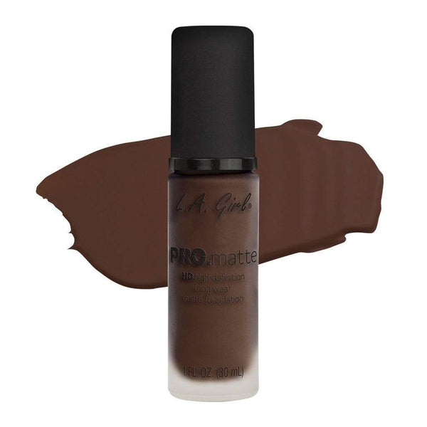 LA Girl Pro Matte Foundation - 724 Ebony - cheap makeup, cosmetic & clearance sales at the LoveMy Makeup online store NZ