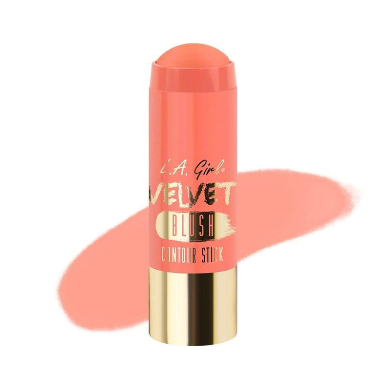LA Girl Velvet Blush Stick (584 Snuggle) - Contouring made easy with the Velvet Contour Stick Collection. This luxurious formula is paraben free with added jojoba seed oil, shea butter, cocoa seed butter and grape seed oil. The soft powdery finish blends beautifully to create the perfect contour and sculpted look! Collection includes 3 highlighters, 10 blushes and 3 bronzers. LA Girl Velvet Blush Stick at LoveMy Makeup NZ