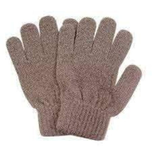 Manicare Exfoliating Gloves (Brown) - Manicare Exfoliating Gloves can be used while bathing or showering to gently massage cleanse and exfoliate dead skin cells away from the body. May be used separately or in conjunction with soaps, gels or scrubs. Manicare Exfoliating Gloves at Lovemy Makeup NZ