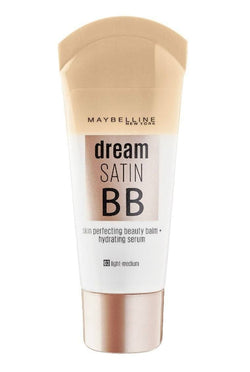 Maybelline Dream Satin BB (Light) -Dream Satin BB Cream. Daily 8-in-1 BB skin perfector brightens, smoothes and hydrates. This BB skin perfector adjusts to skin tone, blurs imperfections, and hydrates. This replenishing water-gel formula leaves skin feeling fresh. Blurs imperfections Brightens Enhances Hydrates Evens skin tone Smoothes Zero oils and heavy ingredients.Gives skin a dewy finish.Maybelline Dream Satin BB (Light) at LoveMy Makeup NZ