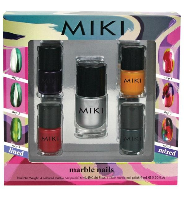 Miki Marble Nails NailPolish (set of 5) - makeup nz cosmetics beauty la girl