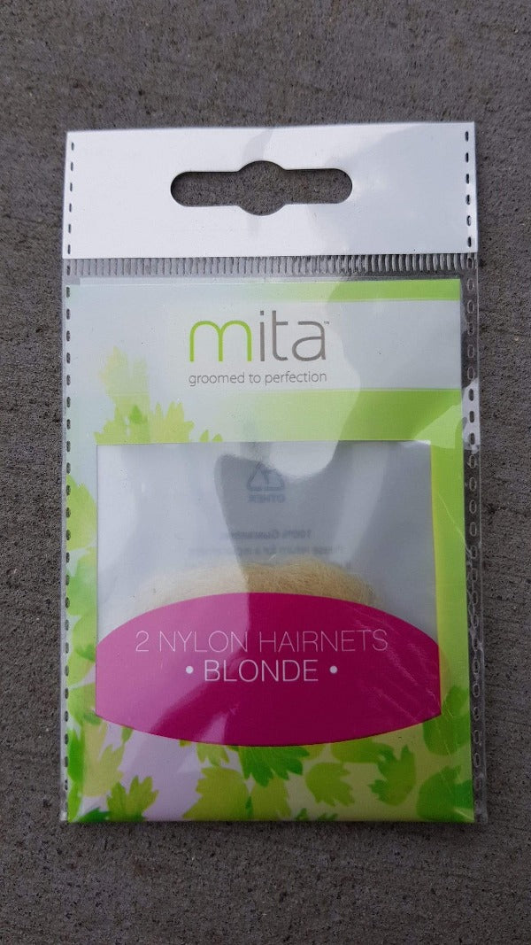 Mita Hair Net (Blonde 2pk) - this pack of hairnets is perfect for holding hair securely in a bun. Mite hair accessories brought to you by LoveMy Makeup NZ