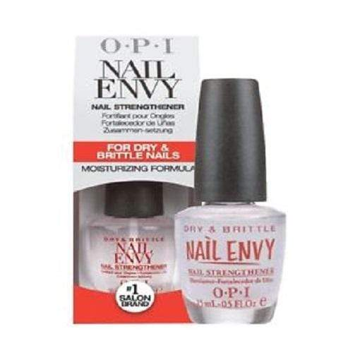 OPI Nail Envy (Dry & Brittle 15 ml) - Infused with Hydrolysed Wheat Protein and Calcium the formula expertly delivers extra Calcium to dry and brittle nails maximising nail strength and enhancing resilience. Easy to apply the clear treatment will leave nails feeling harder healthier and stronger with regular use. OPI Nails Treatments at LoveMy Makeup NZ