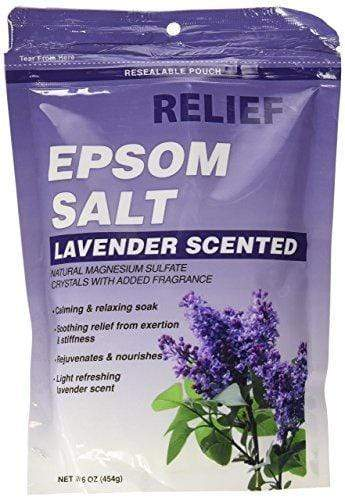 Relief Epsom Salt (Lavender Scented) 454g - cheap makeup, cosmetic & clearance sales at the LoveMy Makeup online store NZ
