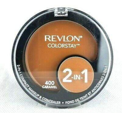 Revlon Colourstay 2in1 Compact Makeup and Concealer - 400 Caramel - cheap makeup, cosmetic & clearance sales at the LoveMy Makeup online store NZ