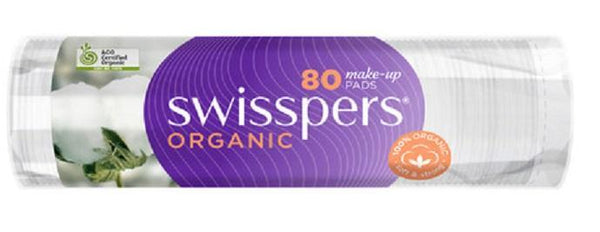 Swisspers Organic Cotton Pads 80 pack - cheap makeup, cosmetic & clearance sales at the LoveMy Makeup online store NZ