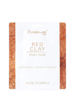 The Creme Shop Red Clay Sheet Mask *** - cheap makeup, cosmetic & clearance sales at the LoveMy Makeup online store NZ