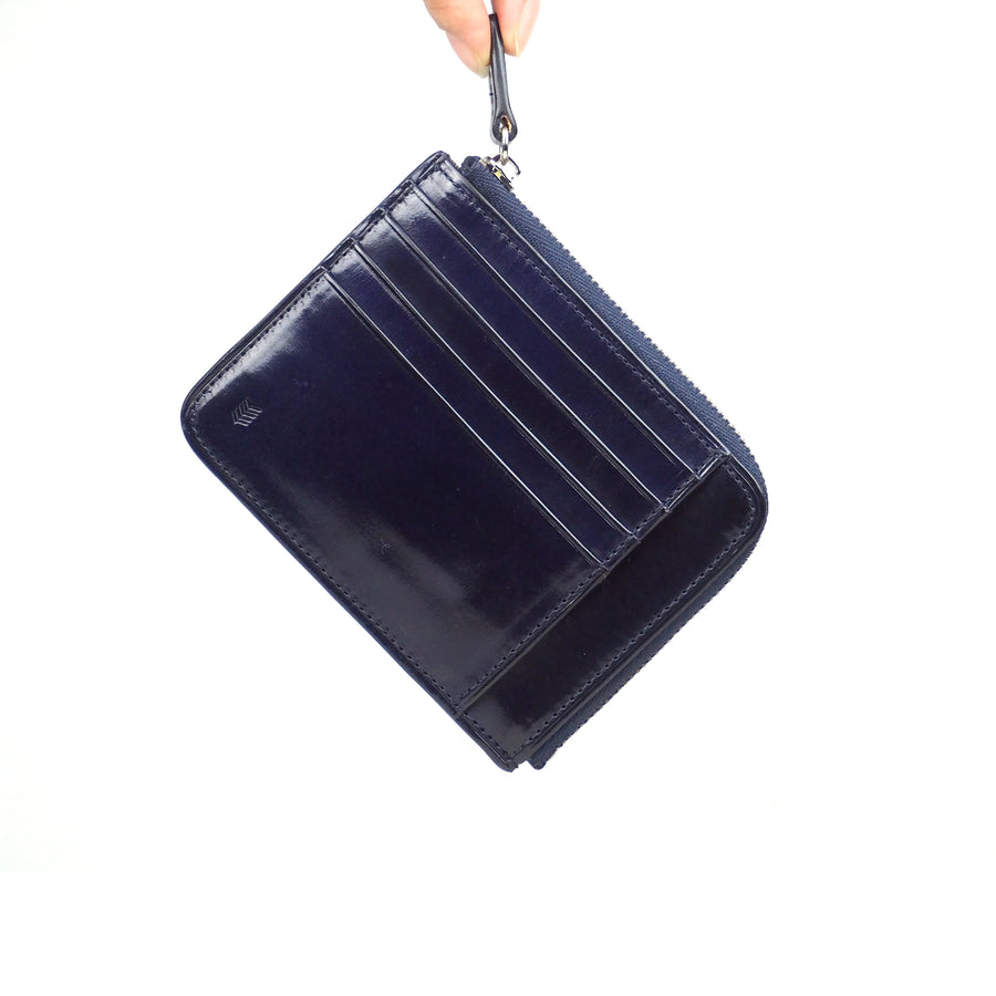 Card zip purse /Indigo BLUE