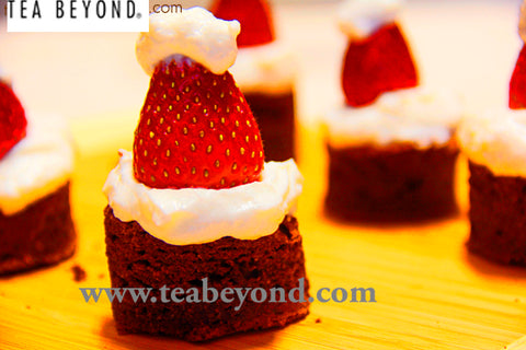 how to make Christmas brownie in 2 minutes