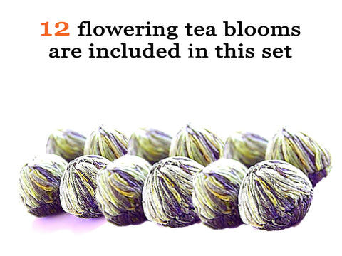 Tea Beyond Tea Gift English Breakfast Flowering Tea 12 Cts Black Tea Blooming Tea Variety Pack