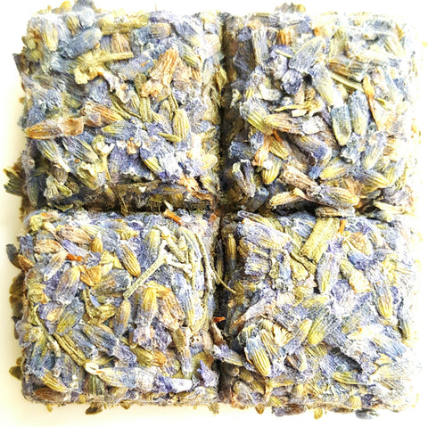 Caffeine Free Natural Lavender In Tea Bricks 120 grams